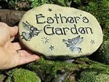 handmade garden stone gardening decor unique custom garden gift