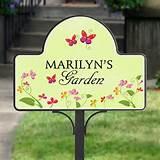 Garden & Yard Décor / Personalized Garden Yard Stake Magnet - Floral ...