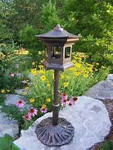 garden decor bird houses