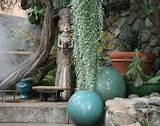 unique garden decor, garden statue and spheres