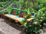 Unique Wooden Bench Decorating Ideas to Personalize Yard Landscaping ...