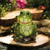 details about frog solar garden statue yard outdoor garden decor