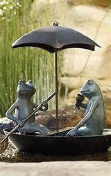 garden decor frog statues
