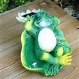 home solar power frog courtyard garden decor