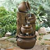 ... TUSCAN-RUSTIC-JUG-FOUNTAIN-Lighted-Outdoor-Water-Feature-Garden-Decor