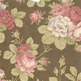 ... Collection :: Garden Party :: Garden Party Moda Fabric - Floral Coffee