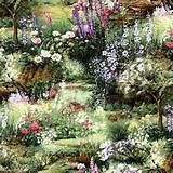 MODA-Fabric-ENCHANTED-GARDEN-Sentimental-Studios-32630-12-by-the-1-2 ...