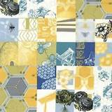 details about moda fabric bee my honey garden patch honey gold