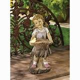 outdoor lawn garden sweet summertime solar statue garden decor