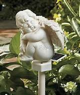 solar cherub stake light angel statue garden yard lawn outdoor decor