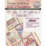 The Vintage Workshop GARDEN OF VERSE QUILT KIT WITH CD For
