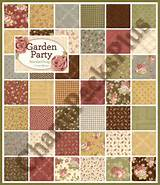 GARDEN PARTY Moda Charm Pack Quilt Fabric Squares