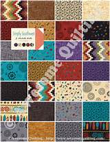 Charm Pack - Simply Southwest - MODA quilting fabric squares by J ...