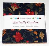 MODA BUTTERFLY GARDEN CHARM PACK - 42 five inch squares