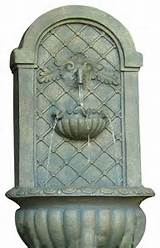 Outdoor Solar Wall Fountain, French Limestone contemporary outdoor ...