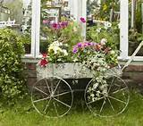 english cottage inspired backyard decorating in retro style antique