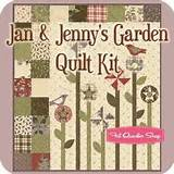 Jan & Jennys Garden Quilt Kit Linda Brannock and Jan Patek for Moda