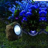 moonrays 91211 solar powered rock spotlight with key hider garden