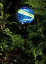 solar garden globe light murano midnight