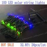 solar powered string lights outdoor xmas fairy lights 2v 140ma solar