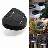 solar power 8 leds outdoor garden fence wall stairway path pathway