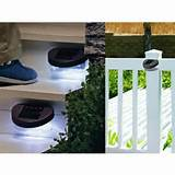 outdoor solar powered led fence light