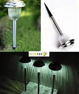 cool white solar led stainless steel landscape garden light