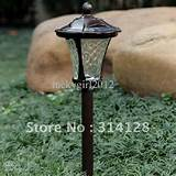 outdoor lights solar led insert lights landscape garden lights 2pcs