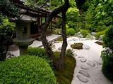 zen style backyard garden d