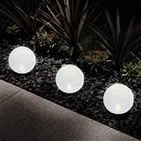 Garden & Outdoor Globe Solar Panel Led Garden Lights, Ball Like ...