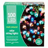 garden led solar lights 100 lights multi coloured