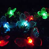 24 LED Colour Changing Solar Butterfly Garden Lights Zoom