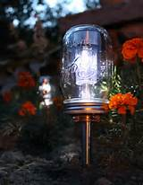 Mason jar solar garden light. Source: BootsNGus, easy.com