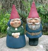 Artisan Hand-Crafted Traditional Clay Garden Gnomes