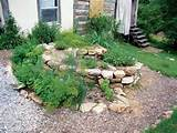 spiral shaped garden is an easy way to accommodate herbs that need a