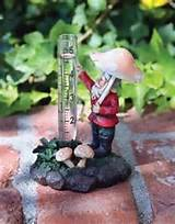 garden gnome rain gauge
