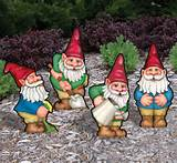 busy garden gnomes woodcraft pattern