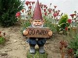 ideal garden gnome silly funny yard sign garden away flowers