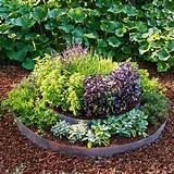 round raised herb garden bed