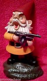Angry Little Garden Gnome Gangster Tommy Submachine Gun Rifle Scarface ...