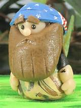 Redneck Gnome inspired by Willie of Duck Dynasty OOAK for Fairy Garden