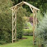 Traditional Rustic Apex Wooden Honeysuckle Garden Arch