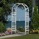 New England Arbor Garden Arch Trellis Flowers Garden Structure Strong ...