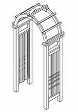 Real Cedar Garden Arch