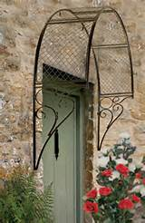 details about ornate english garden trellis black metal arch plants