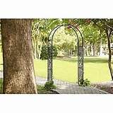 elegant garden arch arbor trellis yard entrance decor plants wedding