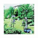 metal rose arch garden walkway patio yard arbor gazebo trellis flowers