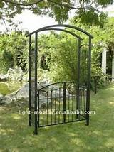 wrought iron garden arch with gate lmgrg 51000