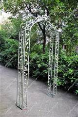 wrought iron arch garden decoration wrought iron door arch clematis ...