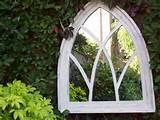 Gothic Arch Garden Mirror - Off White Shabby Chic